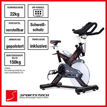heimtrainer fahrrad sportstech profi sx400. Black Bedroom Furniture Sets. Home Design Ideas