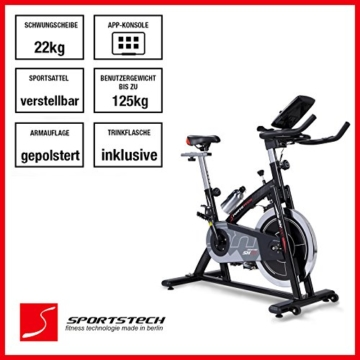 heimtrainer fahrrad sportstech profi sx200. Black Bedroom Furniture Sets. Home Design Ideas